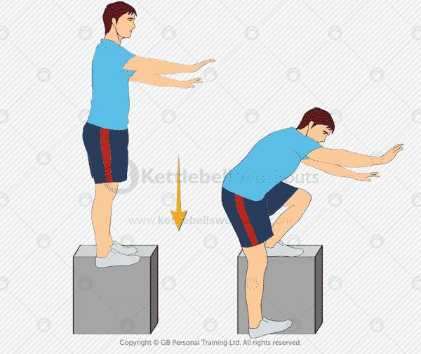 Bodyweight Pistol Squat on a Box