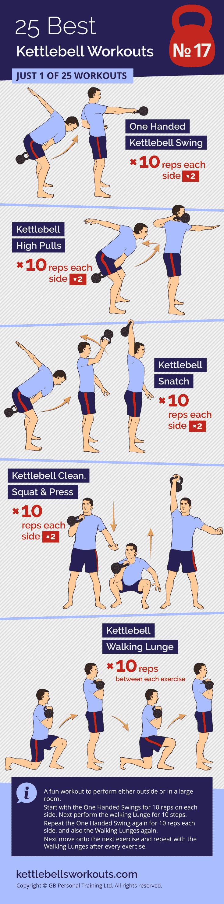 10 and Walk Kettlebell Workout