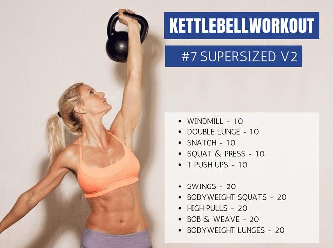 Kettlebell SUPERSIZED V2 Workout