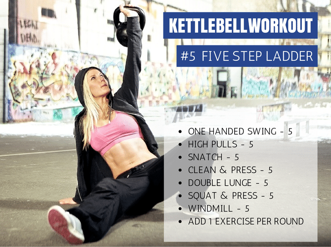 kettlebell workout 5 step ladder