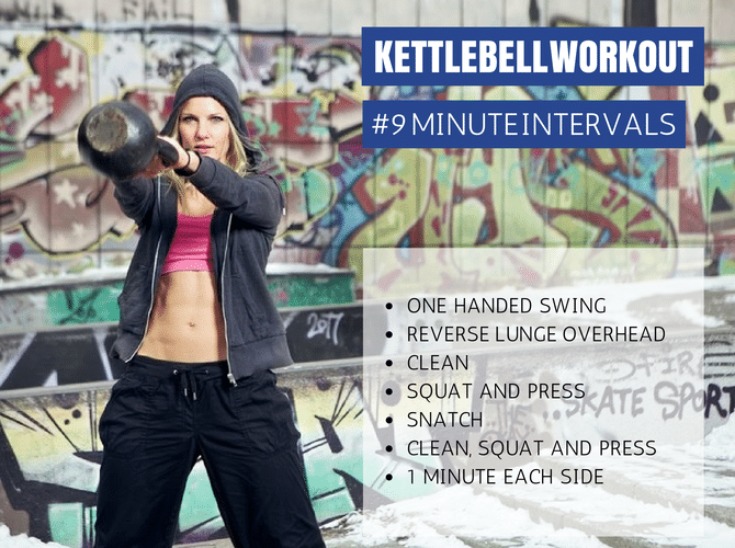 one minute kettlebell intervals