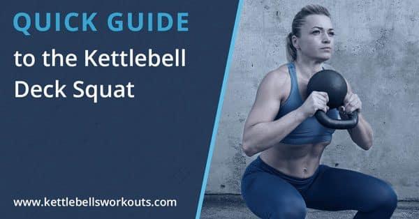 kettlebell rolling deck squat