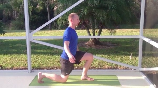 kettlebell lunge warm up exercise