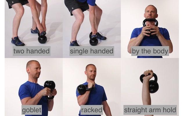 beginner kettlebell holding positions