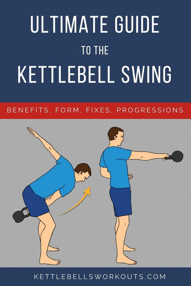 Ultimate Guide to the Kettlebell Swing including common kettlebell swing problems, kettlebell swing progressions, kettlebell swing variations and kettlebell swing benefits