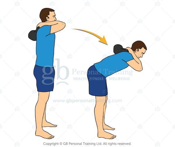 Good Morning kettlebell exercise