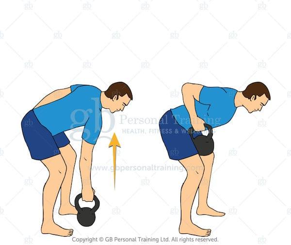 kettlebell row exercise