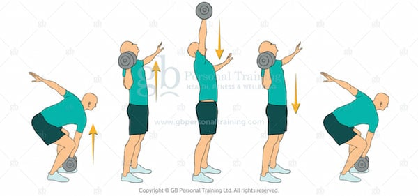 Dumbbell Cross Body Clean and Press