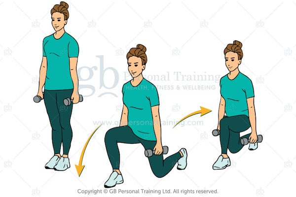 Dumbbell Double Lunge