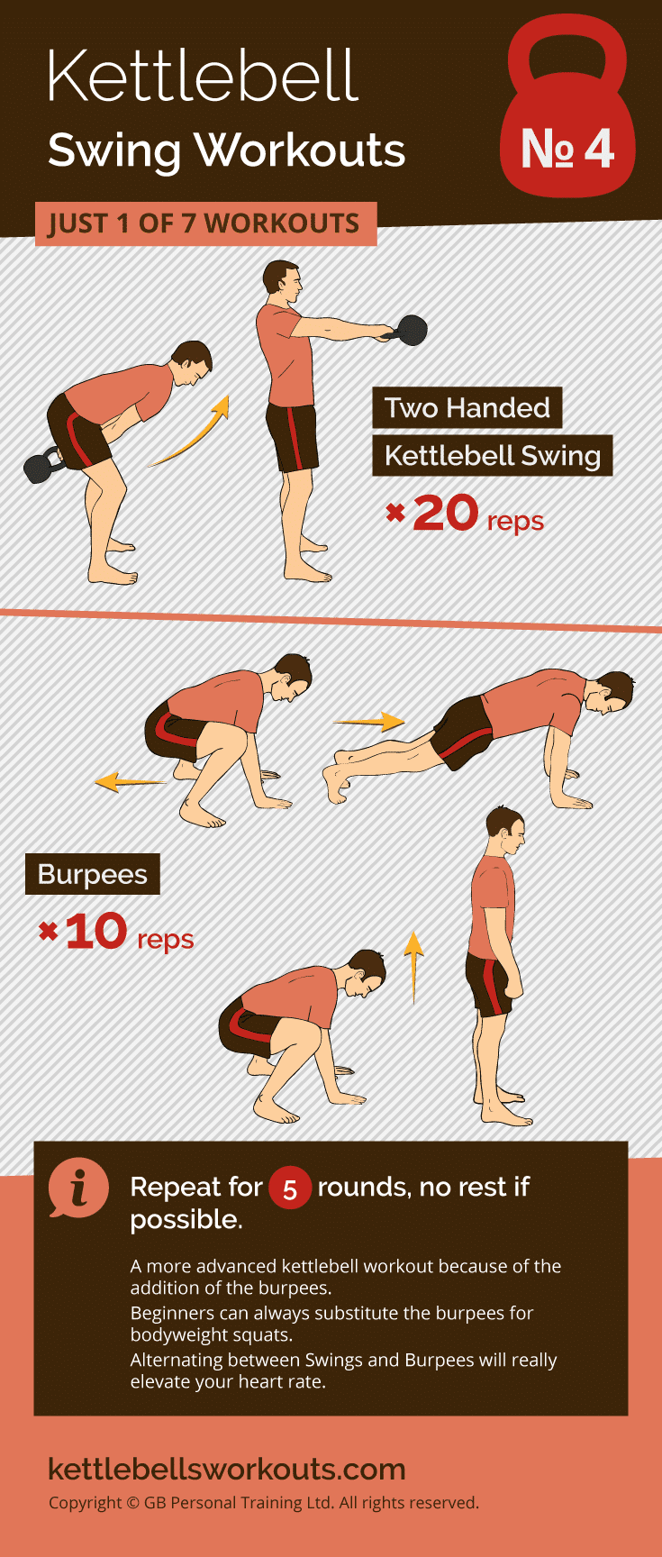 kettlebell swing workout No. 2