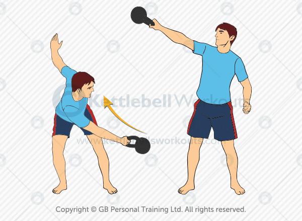 lateral kettlebell swing