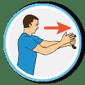 Forward shoulder lean