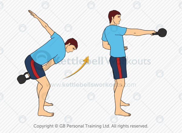 one handed kettlebell swing