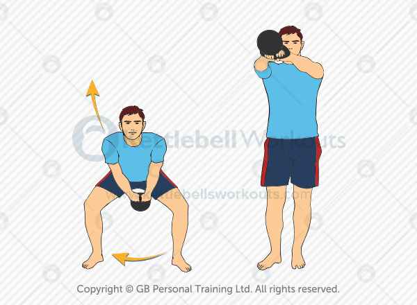 side stepping kettlebell swing