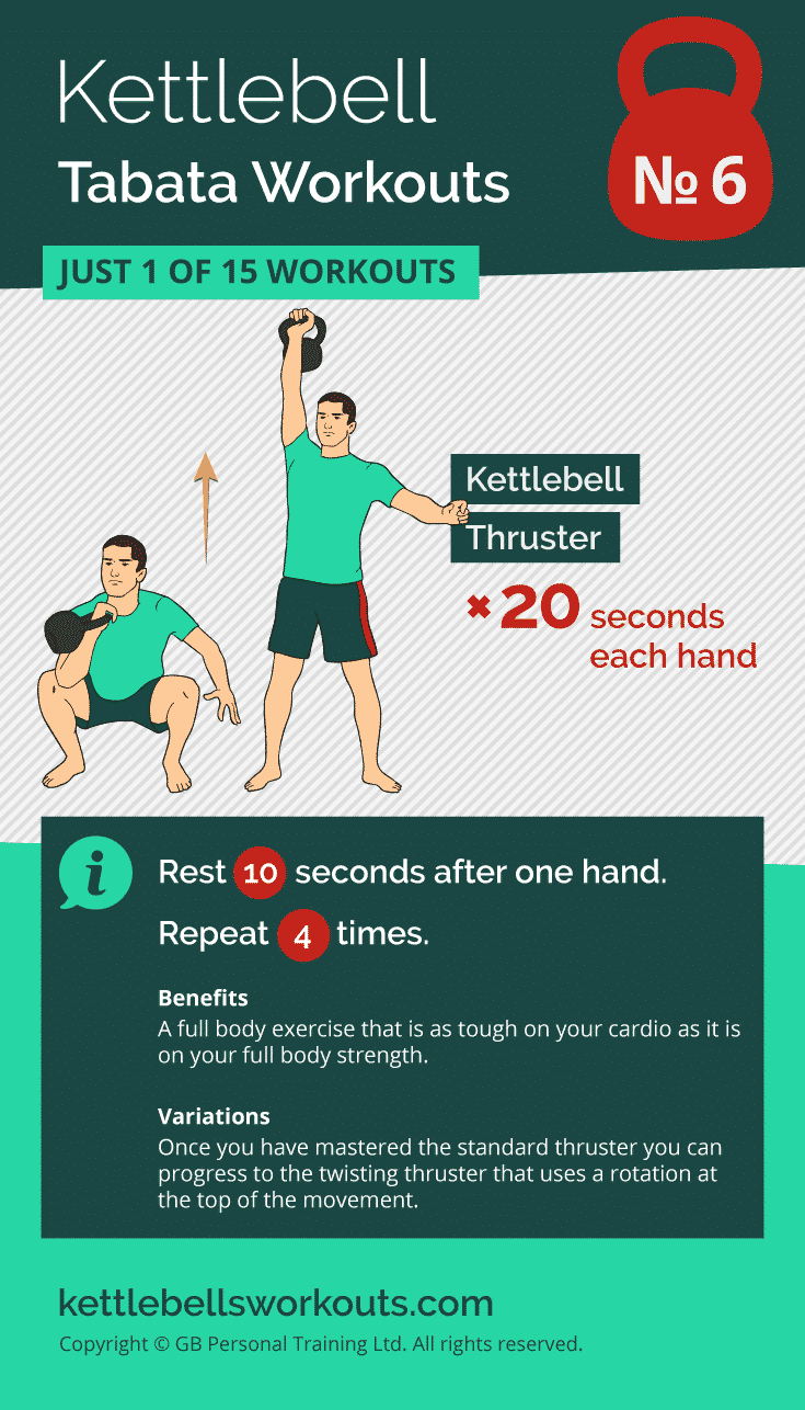 kettlebell tabata workout no.6