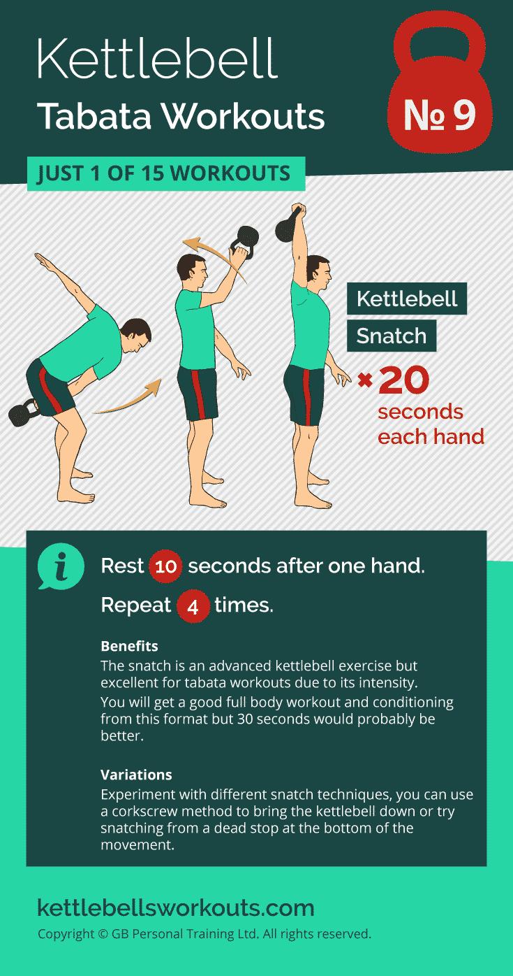 kettlebell tabata workout no.9