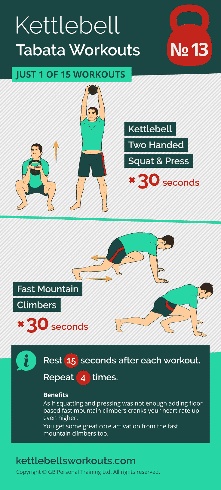 kettlebell tabata workout no.13