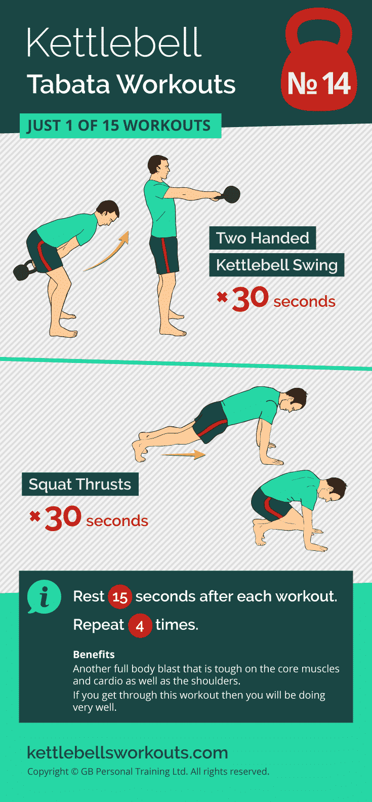 kettlebell tabata workout no.14