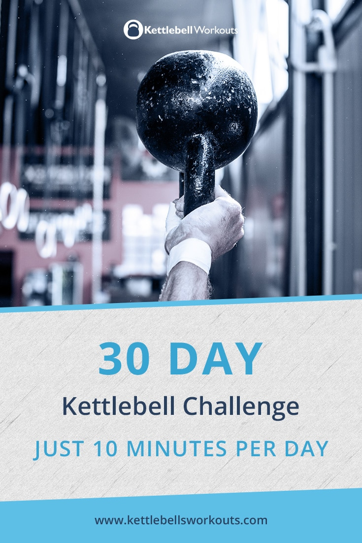 30 Day Kettlebell Challenge in Just 10 Minutes Per Day