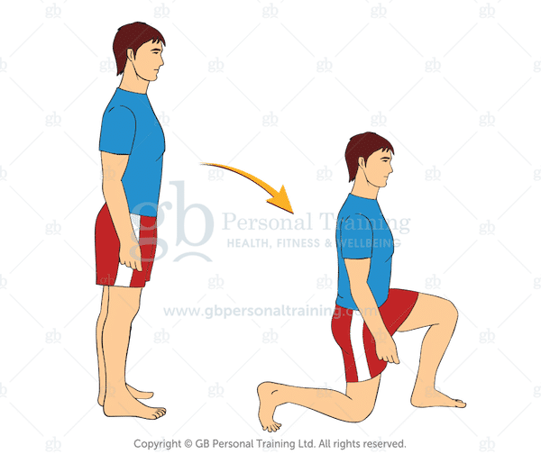 Bodyweight Forward Lunge Exercise