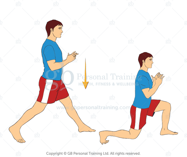 Bodyweight Static Lunge Exercise