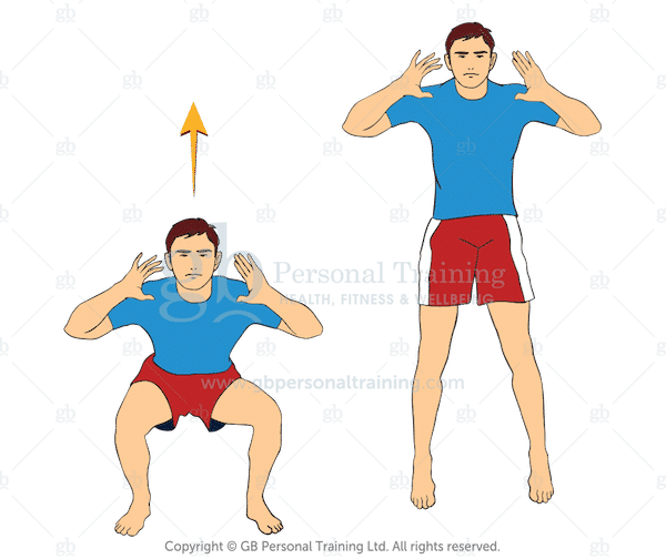 Bodyweight Jump Squats Exercise