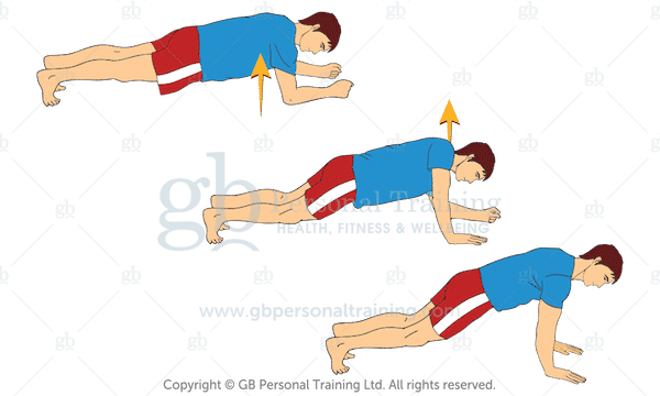 Bodyweight Plank to Push Ups Exercise