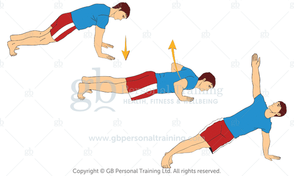 T Push Ups Home Exercise