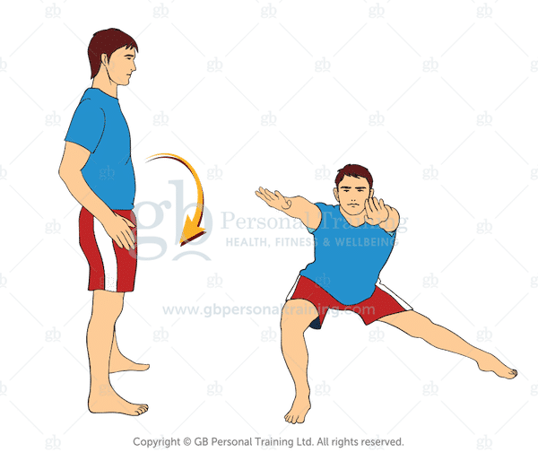 Bodyweight Reverse Diagonal Lunge with Reach Exercise