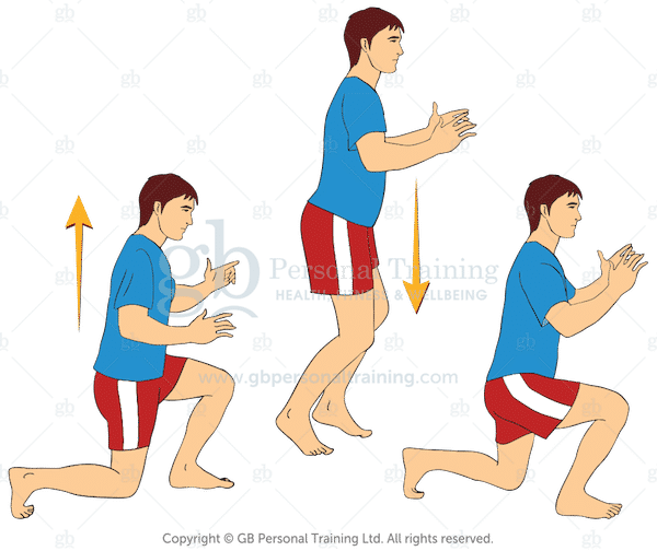Bodyweight Jumping Lunges Exercise