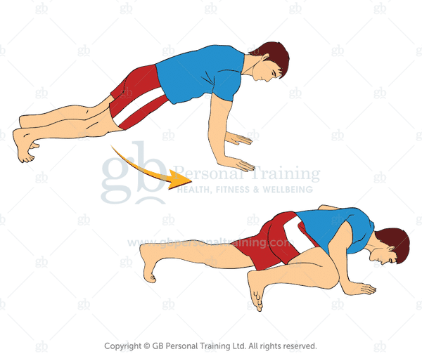 Bodyweight Mountain Climber Push Up Exercise
