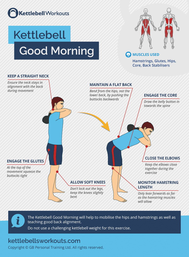 kettlebell good morning form