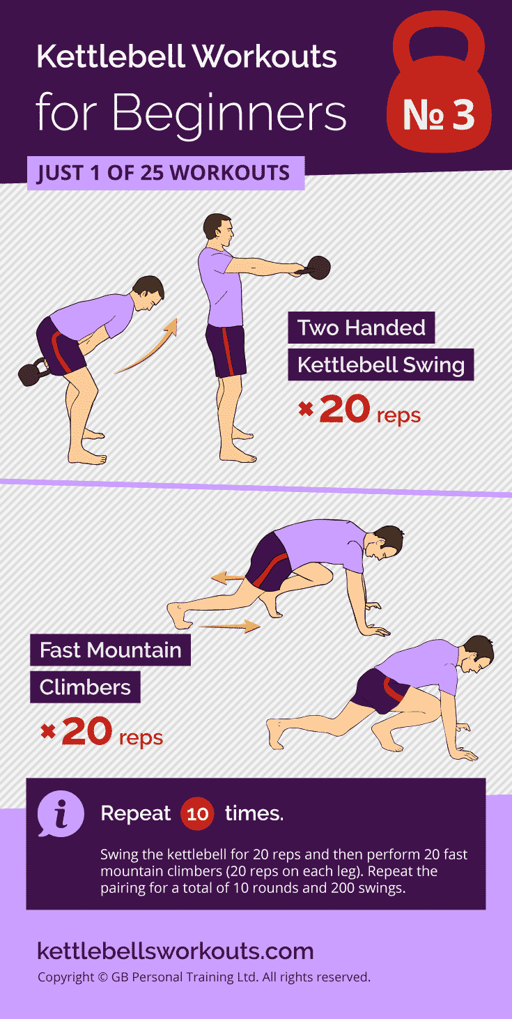 Swings and Fast Mountain Climbers Workout