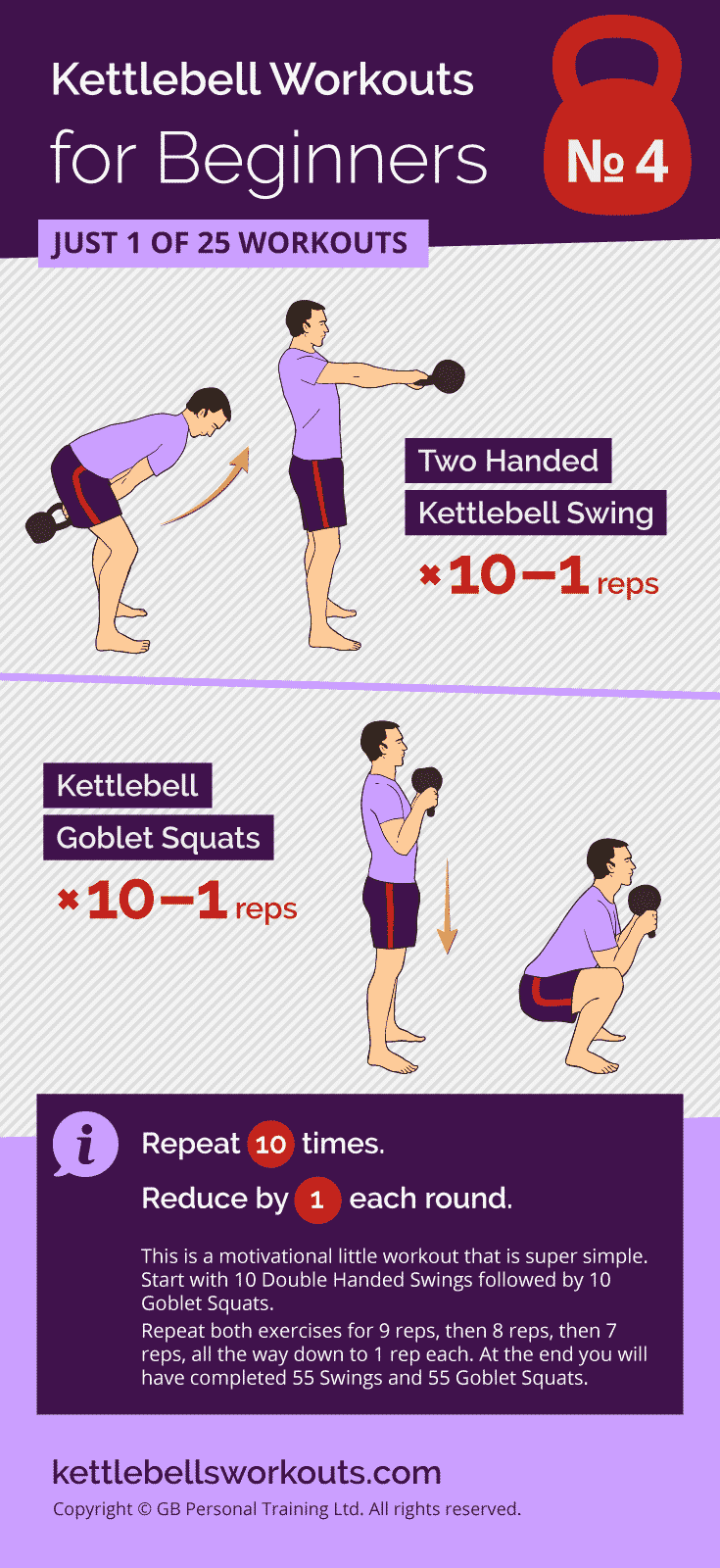 Kettlebell Swings Countdown Workout