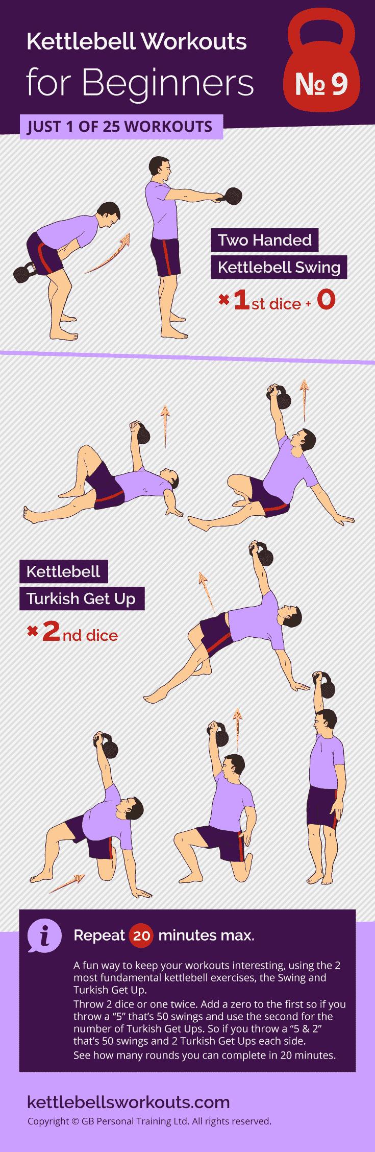 Dice Pair Kettlebell Workout