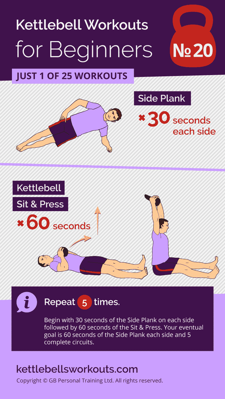 Plank & Press Kettlebell Workout