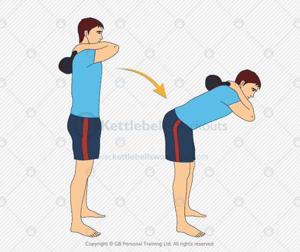 Kettlebell Good Morning Hip Hinge Exercise