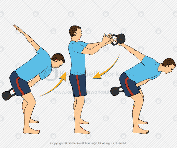 Kettlebell Swing Changing Hands