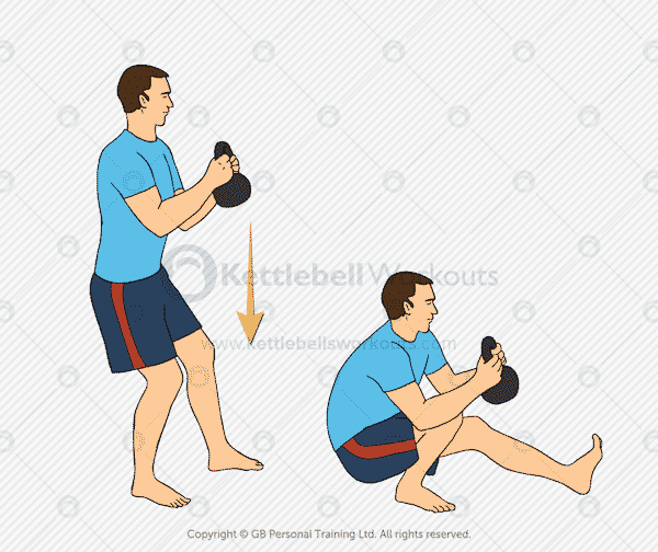Kettlebell Pistol Squat Exercise