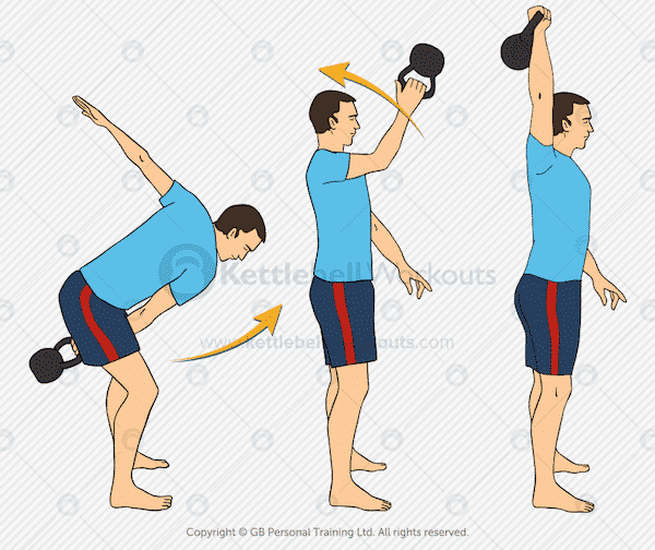 32 snatch - 21 Kettlebell Exercises that Build Muscle and Burn Fat