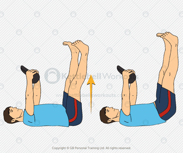 kettlebell hip thrust exercise