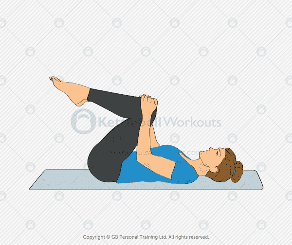 Knees to chest lower back stretch