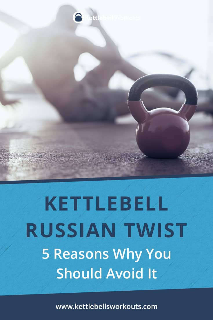 kettlebell Russian twist exercise