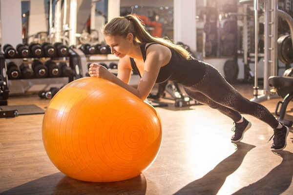 Stability balls will challenge your core and offer hundreds of exercise choices