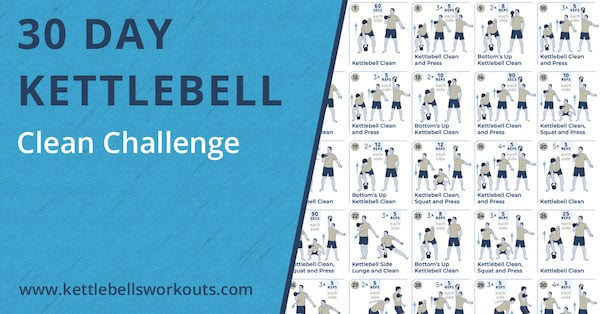 30 day kettlebell clean challenge