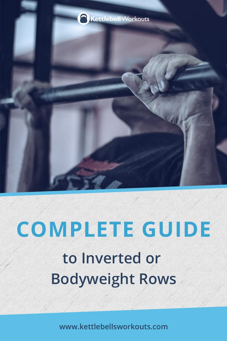Guide to bodyweight rows and inverted rows